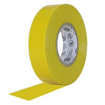"""20 Rolls Yellow Vinyl Electrical Tape 3/4"""" x 60' Flame Retardant UL Listed RoHS"""