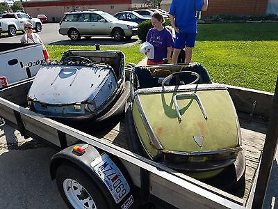 Pair of Vintage bumper cars from an unknown old amusement park ~ Very Cool