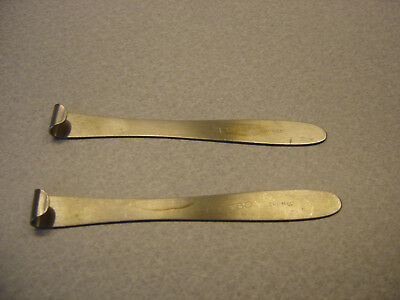 "5 1/2"" Malleable SS Retractors LIke New 1 Pair you get! Podiatry Ortho Plastic"