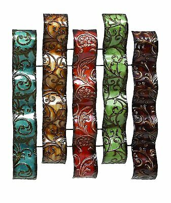 Hanging Metal Wall Decor Decorative Strips Sculpture Plaque Frame Art Abstract