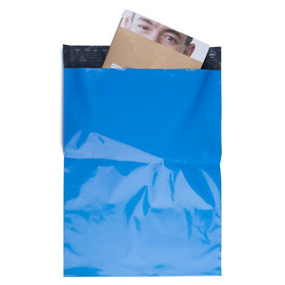 100 10x13 Poly Mailer Polybag Shipping boutique couture Envelope Bag 2.5Mil Blue