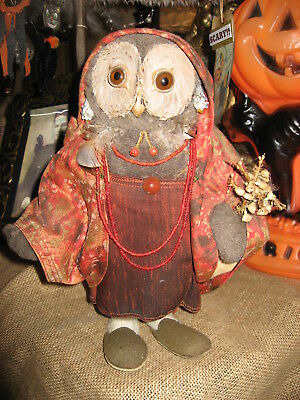Old Antique Vintage Gypsy Fortune Teller Mohair Owl Doll G.H. FRENCH TOYS