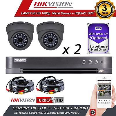 Cctv Hikvision 1080P 2.4Mp Hd Night Vision Outdoor Dvr Home Security System Kit