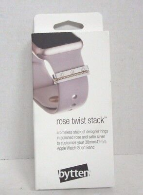 Bytten Twist Stack for 38mm/42mm Apple Watch Sport Band Rose Gold