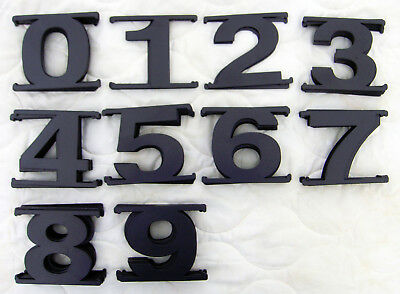 "Lot of 84 Black Assorted 3"" x 3"" Plastic Sign House Mailbox Craft Numbers │ New"
