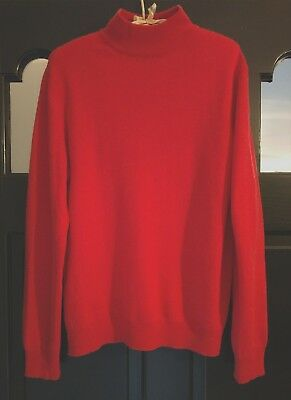 CHARTER CLUB 2-PLY 100/% CASHMERE LUXURY CORAL MOCK TURTLENECK SWEATER Sz M
