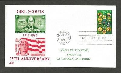 1987 Girl Scouts 75th anniversary # 2251 FDC Glen cachet Troop 200
