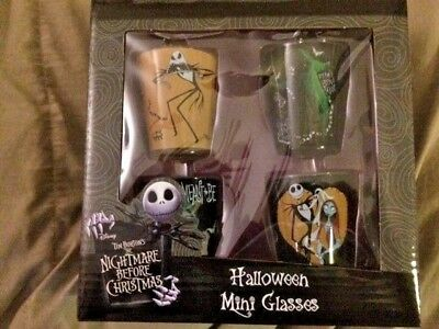 Nightmare Before Christmas- Mini-Glasses, Set of 4