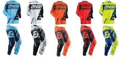 2018 Answer Syncron Adult Pant & Jersey Riding Gear Combo Dirtbike Mx Offroad