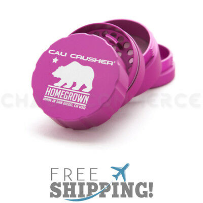 """Cali Crusher Homegrown Herb, Spice & Tobacco Grinder 4 Piece - Pink 2.35"""""""