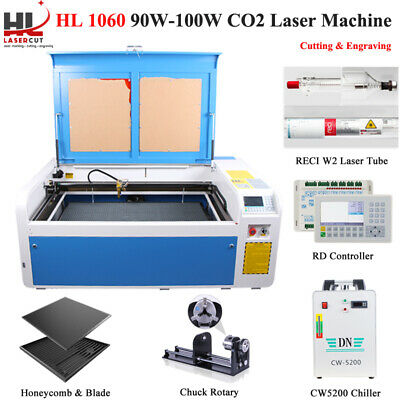 Auto Focus 100w 1060 Co2 laser engraving machine Ruida System & Linear Guides
