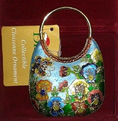 Rare CLOISONNE Christmas Ornament Colorful Enamel on Metal ~ NWT