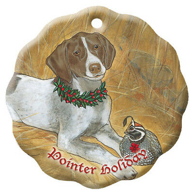 Pointer Holiday Porcelain Christmas Tree Ornament