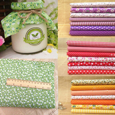Assorted Pre Cut Charm Fat Quarters Cotton Fabric Quilt Sewing Bundle Square .