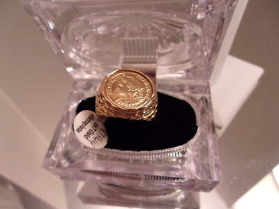 Nwt Roman Greek 18Kt Gold Electro Plated Ring With Cubic Zirconia.  Rg8
