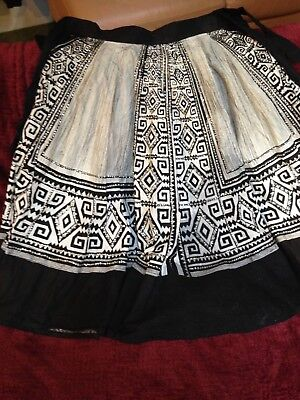 hand made mexican skirt...vintage by the lable