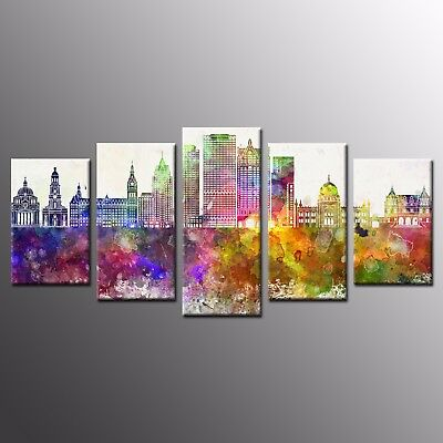 HD Canvas Print Castle Painting on Canvas Wall Art for Living Room-5pcs