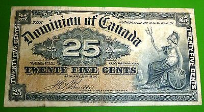 Dominion Of Canada 25 cents 1900