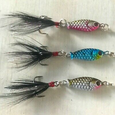 4  metal fishing lures bait tackle small ,spinner spoon Freshwater fishing lure