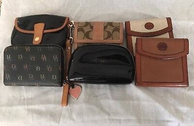 DOONEY & BOURKE, COACH, CHANEL Gorgeous Vintage And Modern Wallets Lot of 6