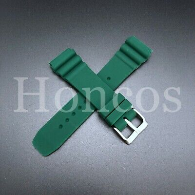 24mm Camo Green Rubber strap band Replacement fits Panerai Submersible