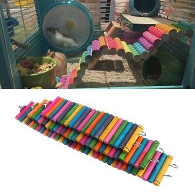 Pets Hamsters Climbing Toys Chew Brige Gerbil Exercise Ladder Cage Natural Woods
