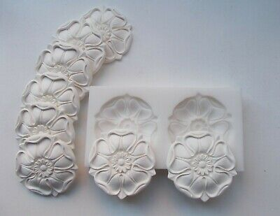 Double silicone rubber mould Large Tudor Rose Furniture Mouldings Arts and Craft