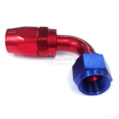 -10AN AN10 90 Degree Universal Angle Hose Fitting Aluminium Alloy Red Blue in UK