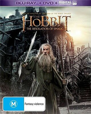 Hobbit: The Desolation Of Smaug (Steelbook with clear slipcase) Blu-Ray + DVD