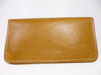 Bay State Exclusive Goldenrod Leather Standard Checkbook Cover-Made In USA