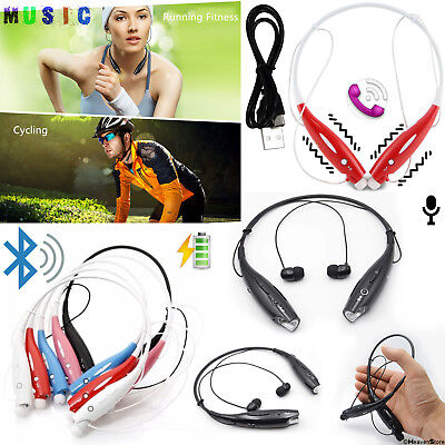 In-Ear Sports HD Wireless Stereo Headphone Bluetooth Neckband Earphones with Mic
