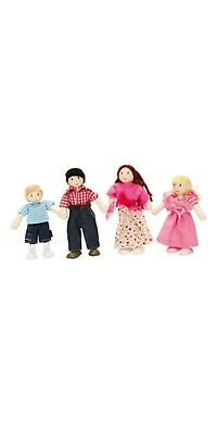 Le Toy Van Family Of Four Wooden Dolls Excellent Role Play **free Postage***
