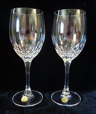 JUAN by CRISTAL D'ARQUES J. G. DURAND WATER GOBLETS pair of glasses wedding set