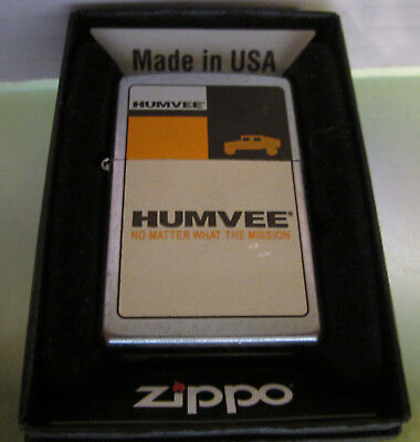 Vintage RARE NEW 2004 HUMVEE ARMY ZIPPO LIGHTER NEW IN BOX
