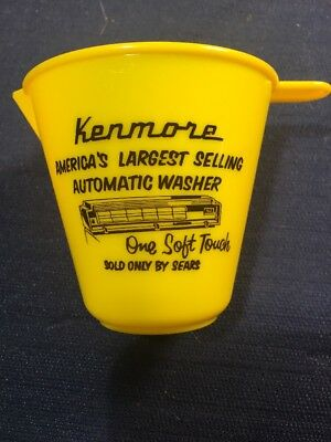 vintage SEARS KENMORE Automatic Washer detergent soap plastic adv measuring cup