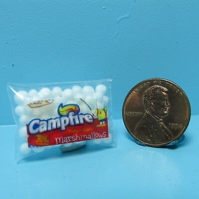 Dollhouse Miniature Replica Bag of Campfire Marshmallows ~ G166