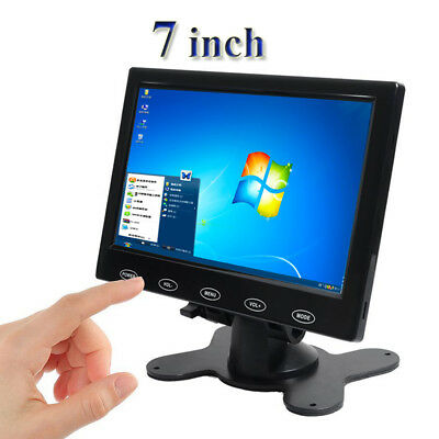 koolertron 7 39 cctv lcd monitor mit hdmi vga av hafen f r. Black Bedroom Furniture Sets. Home Design Ideas
