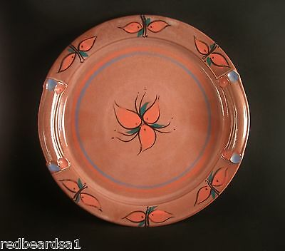 Australian Pottery Serving Platter Twin Handles Large Size 36cms Hand Painted