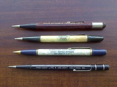 Lot Of 4 -- Vintage Advertising Mechanical Pencils -- New York / Washington, Dc