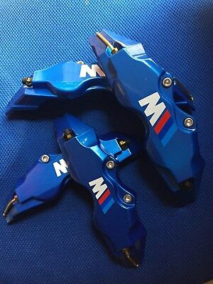 BMW M 3 Disc Brake Caliper Cover Blue Brake Caliper Cover 4pcs Size L+M 18 inch