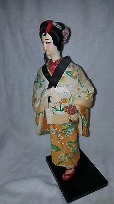 Vintage Asian Oriental Japanese Chinese Cloth Doll Carrying Baby Japan China Art