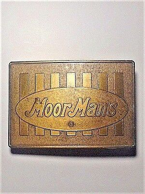 MoorMan's Belt Buckle; Bronze/Gold Tone; Collectible, Moorman's