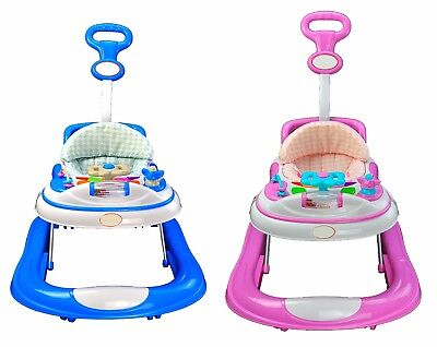 Baby Walker First Steps Activity with Musical Toy New Push Along for Boy or Girl