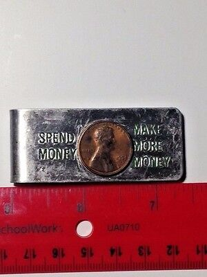 MoorMan's Money Clip with Real Penny; Aluminum; Collectible, Moormans