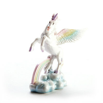 Small Rainbow Mystical Flying Unicorn Figurine Display Decoration Collections