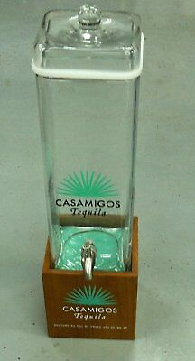 Casamigos Tequila Large Beverage Dispenser Glass With Wood Base Free Shipping