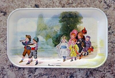 ADORABLE Vintage Tin Litho Tip TRAY Wall PLAQUE Pin Dish EASTER Massilly FRANCE