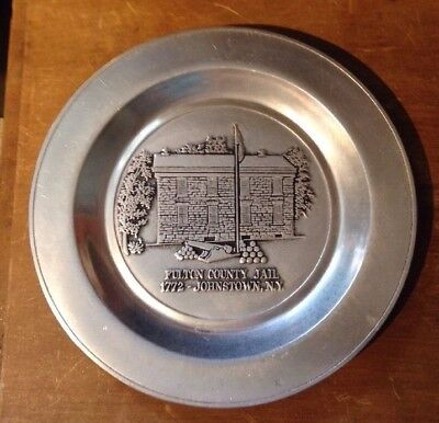 Vintage Wilton RWP  Fulton County Jail Johnstown NY commemorative plate numbered
