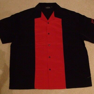 Jim Beam Black Short Sleeve Button Up Shirt Bowl Men's Size LARGE NEW IN PACKAGE