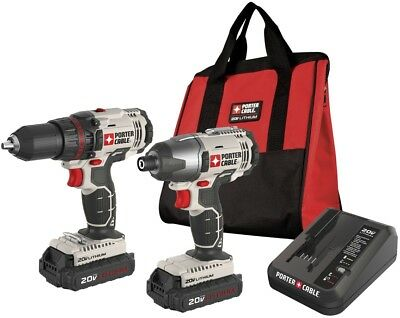 Porter-Cable 2-Tool Drill and amp; Driver 20-Volt Lithium Ion Cordless Combo Kit